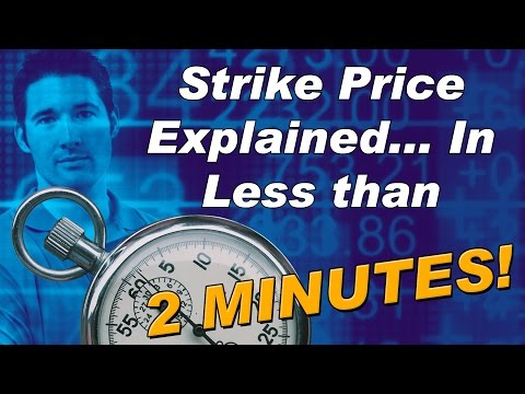Strike Price Explained... In less than  2 Minutes