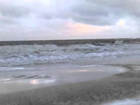 Uruguay end-winter surfing - longer shot