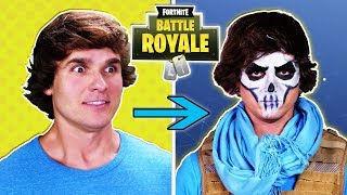 FORTNITE Skin IRL CHALLENGE w. Amymarie Gaertner! Fortnite in Real Life Character Transformation!