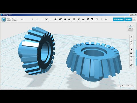 123D Design: Bevel Gear