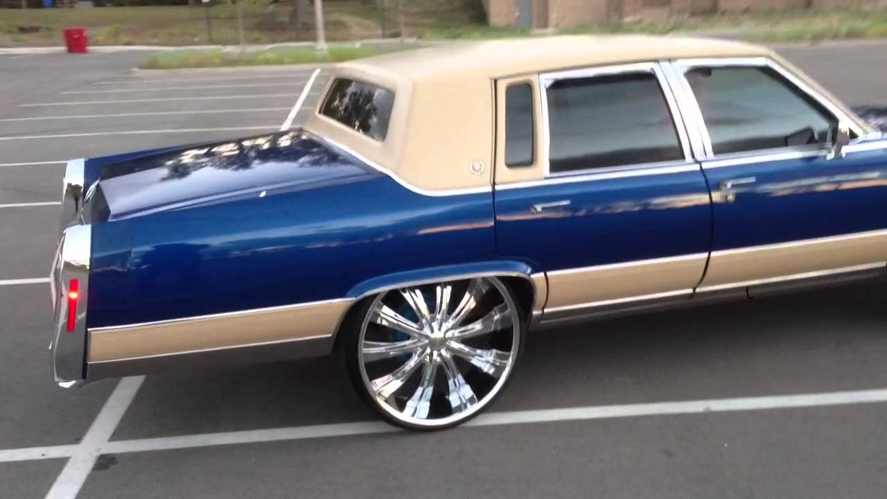 92 Cadillac Brougham on 26's No lift - YouTube