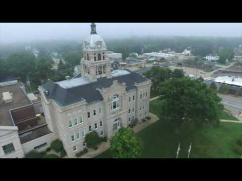 drone over woodford county