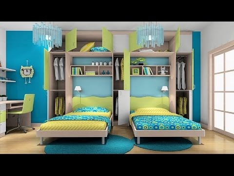 Awesome Twin Bedroom Design Ideas with Double Bed for Boys Room - Room Ideas