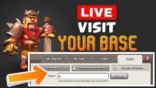 Clash Of Clans LIVE Visit Your Base   LIVE STREAM   COC live stream   Quitable Gamer