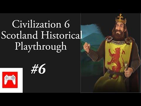 Civilization 6 Rise & Fall:  Scotland Historical Playthrough #6  (Beginning of an Empire !)