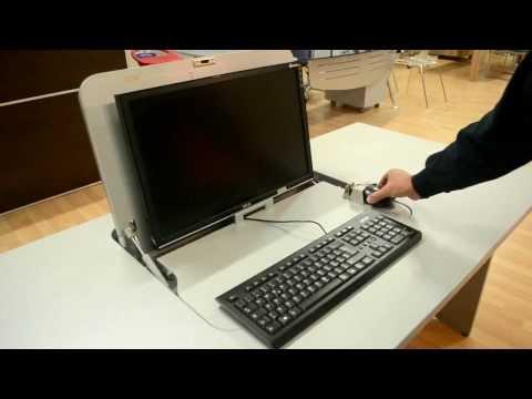 Tavolino porta pc portatile per usare il notebook a letto - Mobile porta pc a scomparsa ...