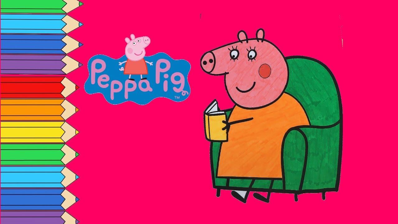 Peppa Pig Mamma Peppa Pig In Italiano Disegni Da Colorare