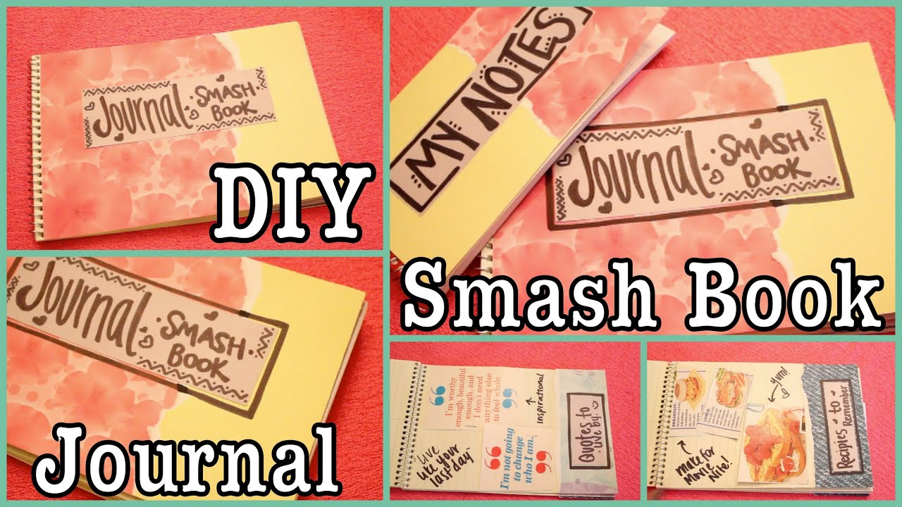 diy smash book journal doovi. Black Bedroom Furniture Sets. Home Design Ideas