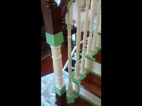 How To Refinish Hardwood (oak) STAIRS (staircase)!!! (Sanding + Stain And  Paint)