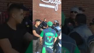 Vagos MC confrontation with two bikers from