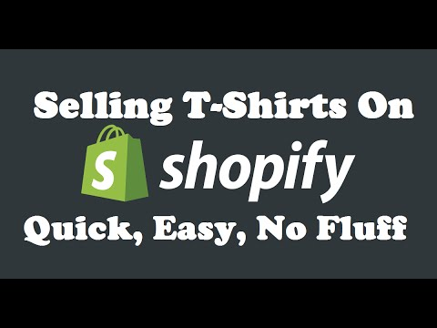 Selling T Shirts On Shopify Another Drop Shipping Method