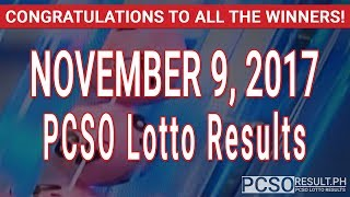 PCSO Lotto Results Today November 9, 2017 (6/49, 6/42, 6D, Swertres & EZ2)