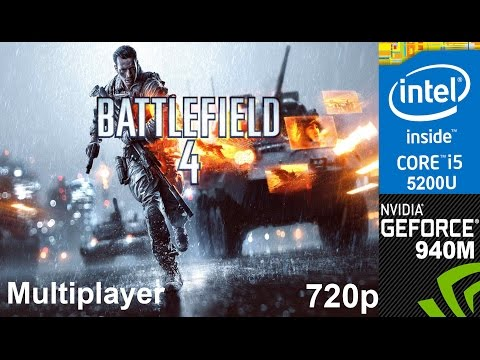 Battlefield 4 Multiplayer on HP Pavilion 15 ab032TX, 720p, Core i5 5200u + Nvidia Geforce 940m