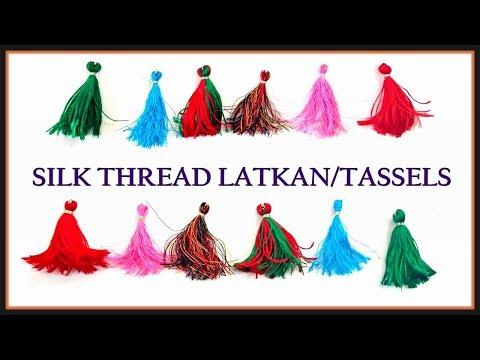 Latkan Button Making | Easily Make Silk Thread Latkan For Your Kurti - Tailoring With Usha