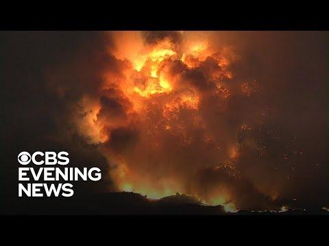 California wildfires burn