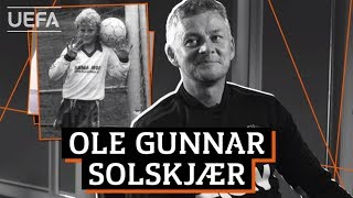 How many MAN. UNITED players SOLSKJÆR identify from their baby photos?