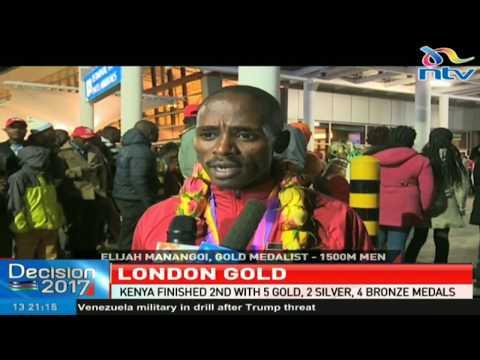 Team Kenya jets back home after finish 2 at the 2017 World Championships