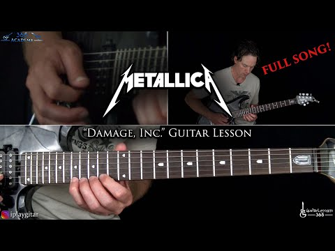 Damage, Inc. Guitar Lesson (Full Song) - Metallica mp3