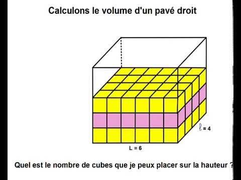 calcul du volume d 39 un pav droit youtube