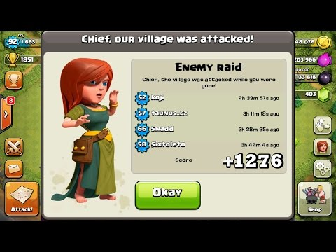 Clash Of Clans | +1276 TROPHIES IN DEFENSE IN 16 HOURS!