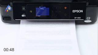 Epson WP-4020: тест на скорость печати текста. Режим \