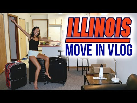 COLLEGE APARTMENT MOVE IN DAY VLOG // UIUC
