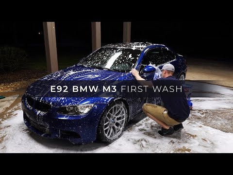First Wash of My 2013 Le Mans Blue E92 BMW M3