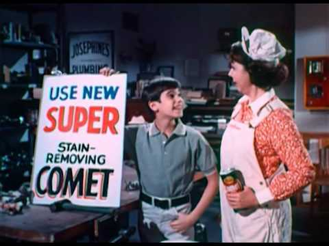 Comet Commercial with Josephine the Plumber and Robbie Benson