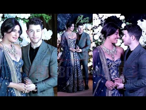 Romantic Couple  Priyanka Chopra And Nick Jonas Makes A Grand Entry At Their Wedding Reception