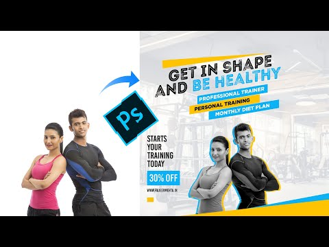 Fitness Trainer or Gym Banner Design in Photoshop  #10BajeWalaIdea thumbnail