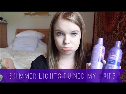 SHIMMER LIGHTS RUINED MY HAIR YouTube