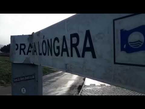 La borrasca Fabien deja fuertes vientos en la playa de Lóngara