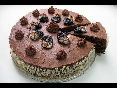 Шоколадный торт с черносливом / Вкусный, Супер Шоколадный торт