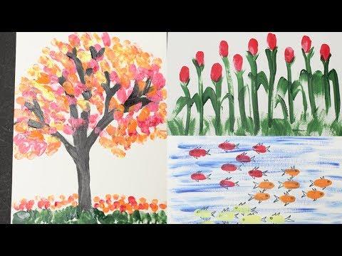 Finger Painting For Kid - Kid Arts - Diy Crafts