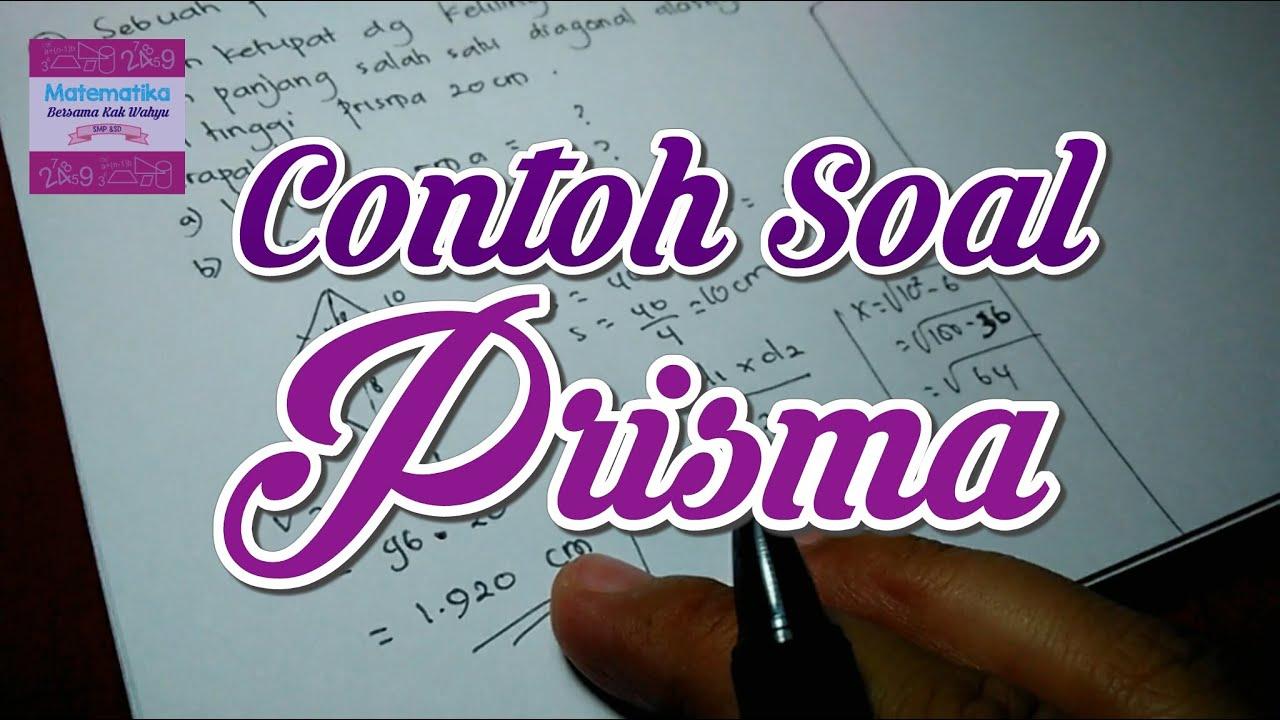 Contoh Soal Prisma Youtube