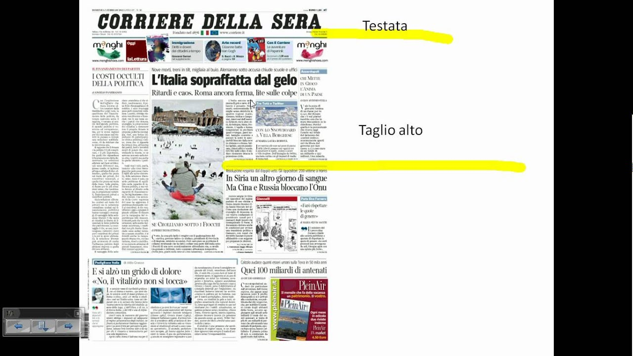 Il quotidiano la prima pagina youtube - La pagina di colorazione del guanto ...