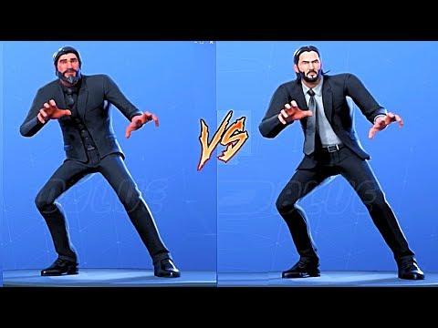 Dance Off! John Wick VS The Reaper All Fortnite Dances & Emotes