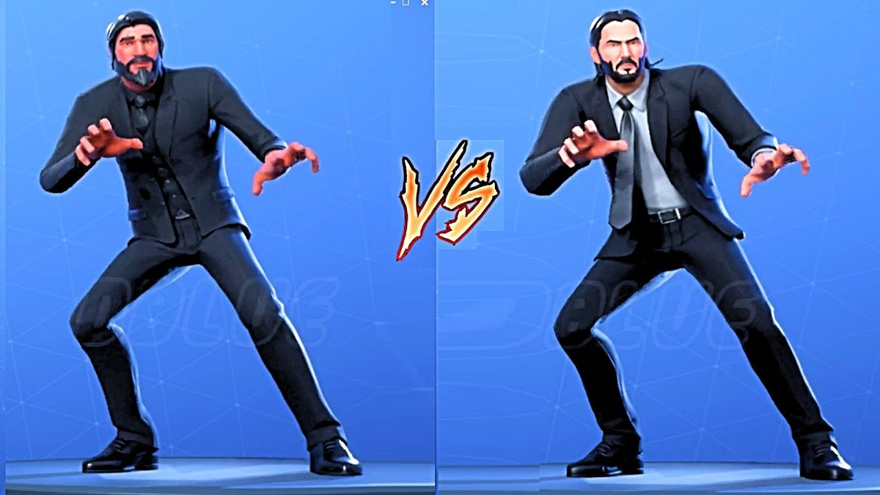 Dance Off John Wick Vs The Reaper All Fortnite Dances Emotes Youtube