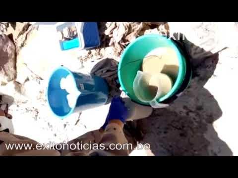 Recolectan muestras del río Achocalla por deslizamiento del relleno sanitario