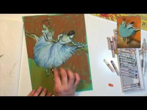 Create an Edgar Degas Ballerina Oil Pastel Reproduction