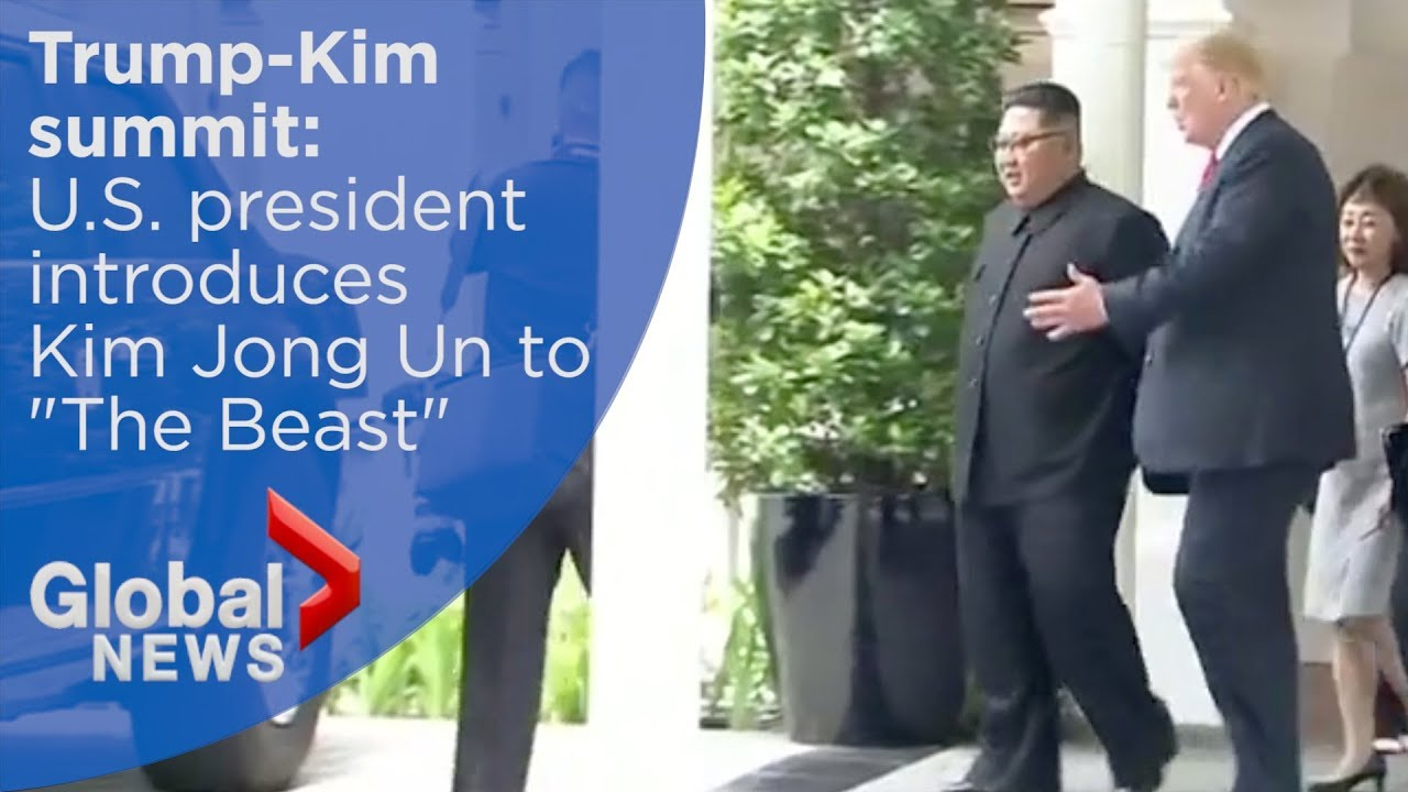 "Trump-Kim summit: Trump shows off armoured limo known as ""The Beast"""