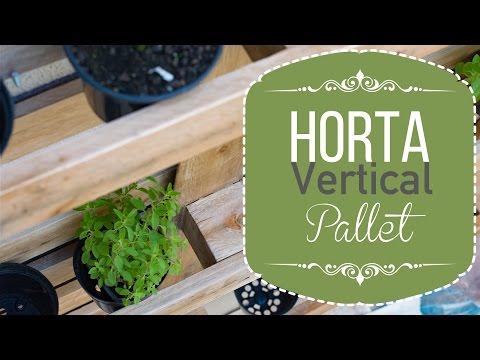 Horta vertical de Pallet | Faça você mesmo