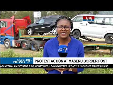 Traffic has peaked at Maseru Bridge