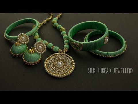Silk Thread Jewellery | Handmade Jewellery | Jewellery Making