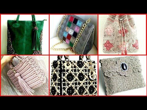 Hand Made Crochet Hand Bags Beautiful Design
