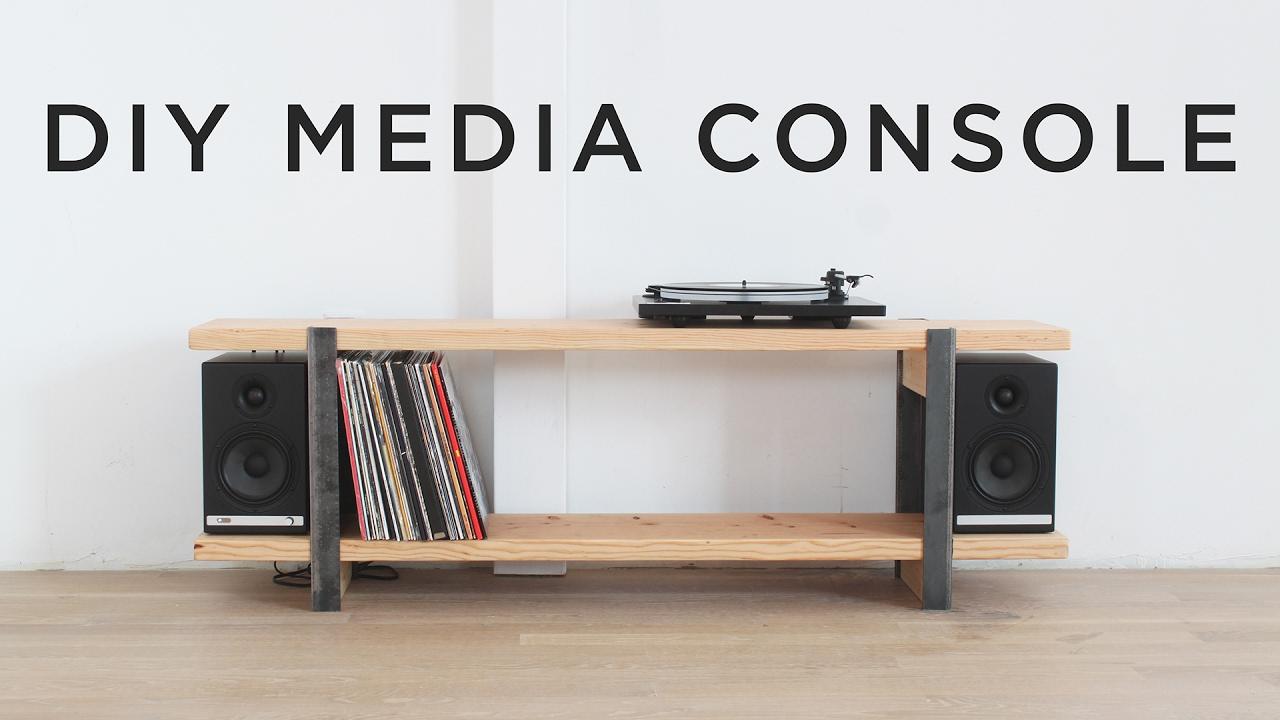 Diy Media Console Youtube