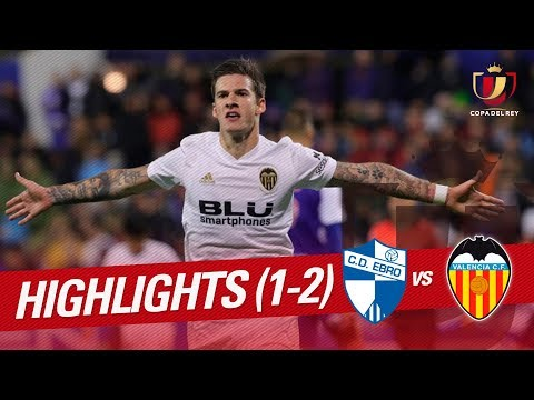 Resumen de CD Ebro vs Valencia CF (1-2)
