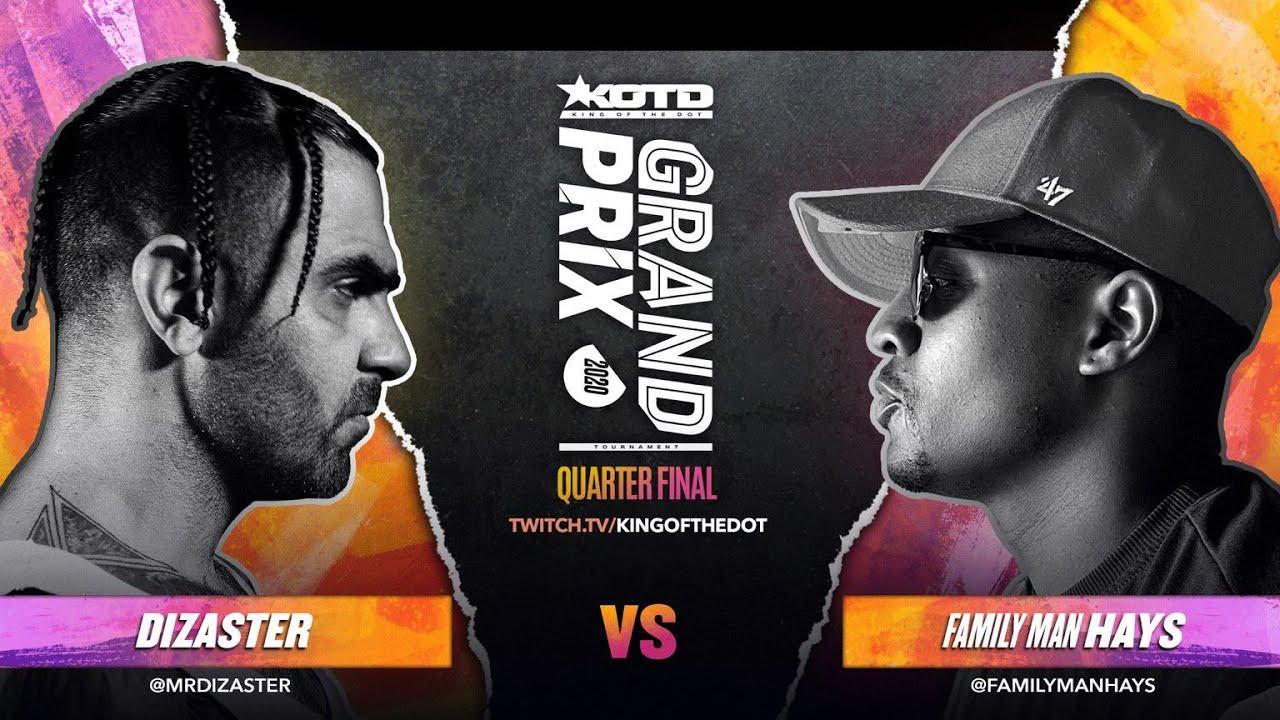 Download KOTD - Rap Battle - Dizaster vs Family Man Hays   #GP2020 R3
