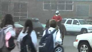 Suspended for riding horse to school on spirit day at Hamilton Wenham Regional