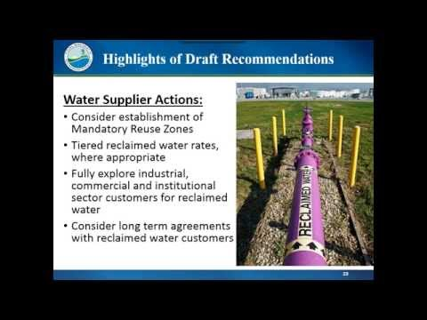 Office of Water Policy  Webinar recording August 20, 2015, SB536 Study Report Overview